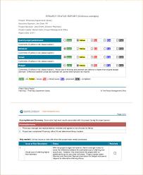 team progress report template 9 status report exles sles