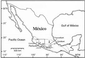Southern Mexico Map by