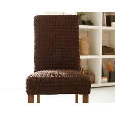 housse de chaise housse de chaise bi extensible becquet chocolat becquet linge