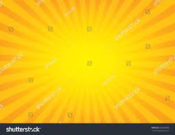 Orange Color by Sun Rays Sunburst On Orange Color Stock Vector 605287688