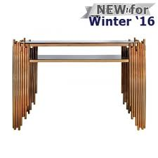 Gold Console Table Lorenzo Metal Glass Console Table Rose Gold