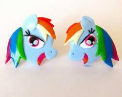 my pony earrings pony earrings etsy