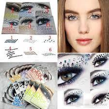 eye rock diy eye makeup 3d eye tattoos decoration