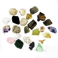 mixed 25 pieces pack raw natural rock quartz crystal and minerals
