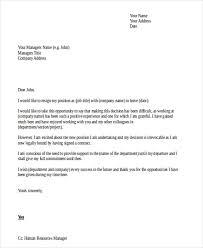 resignation letter template doc 28 images 36 resignation