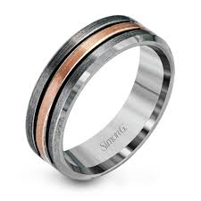 two tone mens wedding bands 14k grey gold two tone men s wedding band simon g