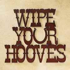 wipe your hooves metal sign horse themed gifts clothing