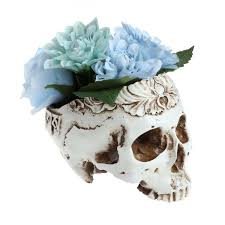 skull flower pots pen holders lucid tiger