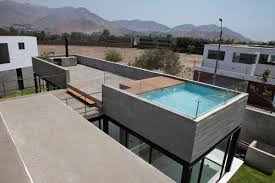 Rooftop Deck Design by House With Rooftop Pool