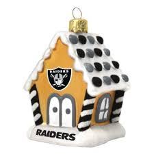 buy oakland raiders gingerbread ornament set in cheap price on