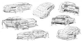 mustang design mustang sketches by kemal curic car design ford