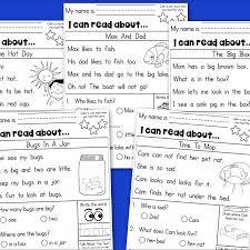 kindergarten reading passage fishyrobb teaching ideas and resources kindergarten reading
