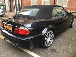 bmw e46 m3 convertible black with red leathers full service