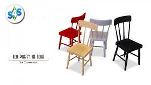 4 Dining Chairs Allisas Simming Adventures Tea In Teak Dining Chair Sims