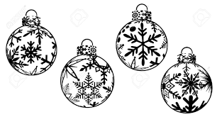 ornament black and white black and white tree