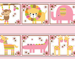 Jungle Wall Border Etsy - Wall borders for kids rooms
