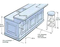 standard kitchen island height typical kitchen island dimensions home design
