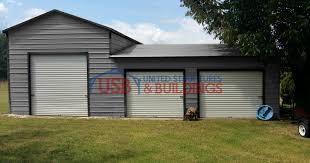 split level metal garage