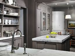 grey kitchen walls with white cabinets nickel chrome swing panel