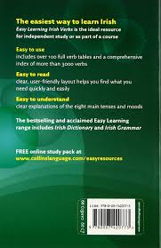 easy learning irish verbs collins easy learning irish amazon co