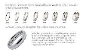 wedding ring engraving quotes custom engraving using laser engraving 3mm white tungsten carbide