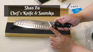shan zu chef u0027s knife and santoku review damascus super steel and
