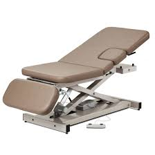 clinton industries medical tables open base power imaging table with 3 section top clinton industries