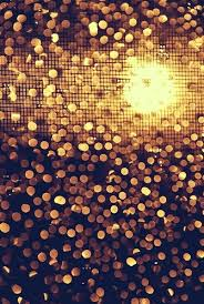 black bokeh disco glitter gold light lights paillettes