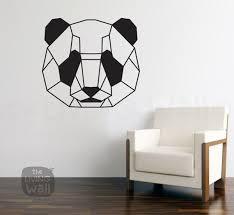 geometric head panda wall decal sticker home decor head panda