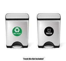 amazon com recycle trash bin logo sticker 4