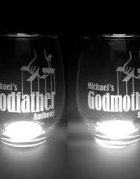 Godmother Wine Glass Personalized Godparent Wine Glass Set Great For First Communion