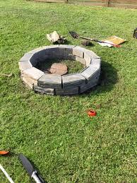 Firepit Diy Remodelaholic Diy Retaining Wall Block Pit