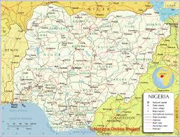 Africa Population Map by A Map Of All The States That Make Up Nigeria Nigeria Pinterest