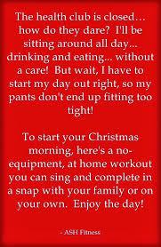 ash fitness u0027twas the night before christmas and ash fitness sent