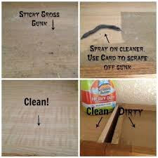 wonderful how to clean sticky wood kitchen cabinets ecomercae com