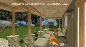 house plans with large front porch 3d images for chp lg 3096 ga large hillside ranch 3d house plan
