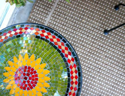 Mosaic Accent Table Catchy Mosaic Accent Table With Patio Makeover Creating An Outdoor