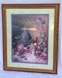 vintage home interiors vintage home interiors 34 x 28 vase and fruit picture signed d