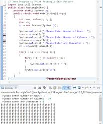 java pattern programs for class 10 java program to print rectangle star pattern