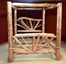 Wooden Log Beds Log Beds U2014 Barn Wood Furniture Rustic Barnwood And Log Furniture