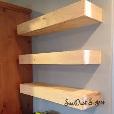 floating shelves tutorial sawdust sisters
