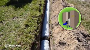ez drain french drain installation the gravel free alternative