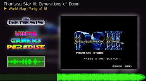 Phantasy Star Maps World Map Party Of 5 Phantasy Star Iii Generations Of Doom