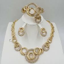 necklace bracelet earring ring images 2018 hot dubai filled women party jewelry set women wedding jpg
