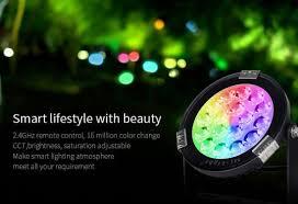 smart outdoor flood light china mi light smart led 2 4ghz rf remote control rgb cct outdoor