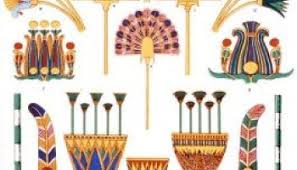 ancient decorations lotus and papyrus ornaments lost