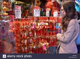 parade souvenirs london uk 16 february 2018 dog souvenirs on sale in chinatown