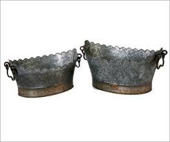 Galvanised Vases Galvanised Metal Planter Manufacturer Galvanised Metal Planter