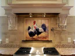 tile murals for kitchen backsplash rooster tiles kitchen backsplash tiles black rooster and hen