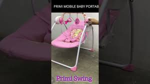 Pink Swinging Baby Chair Primi Mobile Baby Portable Rocker Youtube